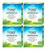 Scure Dishwasher Detergent Salt Granulate, 100% Pure Natural White For Water Softening Set