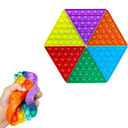 leofit 6 piezas de juguete de burbujas sensorial, juguete antiestrés, juguete sensorial, juguete para autismo, juguete para apretar sensorial, juguete para aliviar la ansiedad