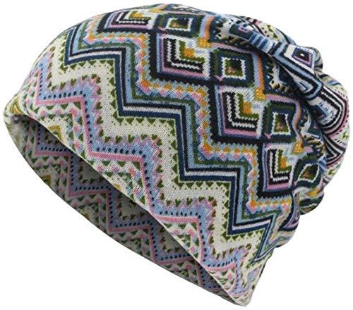 LCM Unisex Head Hat Geométrico Diamond Pattern Dual-Use Sombrero Distorsed Cap Bib Modeling para Hombres Papá y Mujeres (Color : 02, Size : 24 * 24cm)
