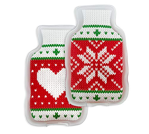 Helmecke & Hoffmann 2er-Set Handwärmer | Design: Wärmflasche | Taschenwärmer | Taschenofen | Fingerwärmer |...