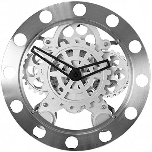 Invotis INGZ011 Wanduhr, mit sichtbarem Uhrwerk