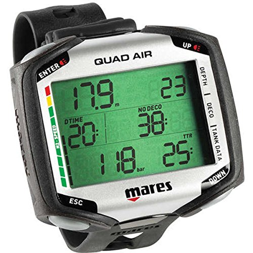 Mares Tauchcomputer Quad Air, Black, One size, 414169