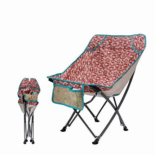 Silla reclinable reclinable plegable con portavasos, mesa lateral desmontable y bolsa de transporte, adecuado para exteriores, escalada 12-red