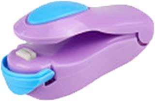 Pycong. Kitchen Accessory Tool, Mini Portable Food Clip Heat Sealer, Snack Bag Sealing Machine (Color : Plum)