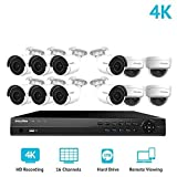 LaView 16 Channel Ultra HD 4K Home Security Camera System with 8