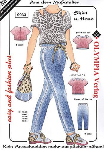 Olympia Creativ-Schnittmuster Shirt und Hose Größe 44-46 (0933)