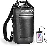 RUNACC Bolsa impermeable impermeable para hombre, con correa para el hombro ajustable, para barco, kayak, pesca, rafting, natación, camping y snowboard, 20 L