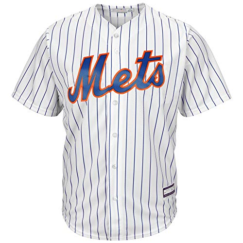 Outerstuff MLB 8-20 Youth Blank Cool Base Home Color Team Jersey (Small 8, New York Mets)