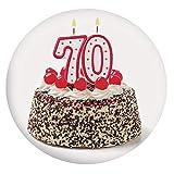 Mantel ajustable de poliéster con bordes elásticos, para tarta de cumpleaños...