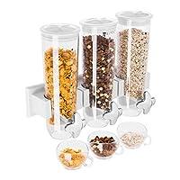 Contenitori da 1,5 l Compatibile con ciotole con profondità fino a 8,5 cm Chiusura ermetica In plastica trasparente Vaschetta in argento cromato per raccogliere briciole o gocce di latte