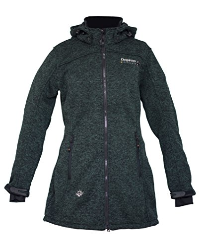 Deproc Active Dames gebreide fleece mantel Elkford Longjacket Lady