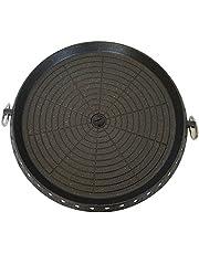 Premium BBQ grillplatta grillpanna för gasspis campingbord grill Bulgogi Korea BBQ rund