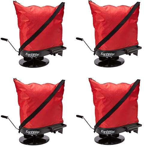 Lowest Prices! Earthway 2750 Hand-Operated Bag Spreader/Seeder,Red,25 Pounds (Pack of 4)