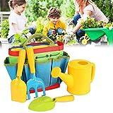 JY&WIN 5 Unids/Set Juego de jardinería para niños Kit de jardín para niños Herramientas de jardinería con Bolsa de Asas Tote Hand Rake Shovel Trowel para niños Juego de Herramientas