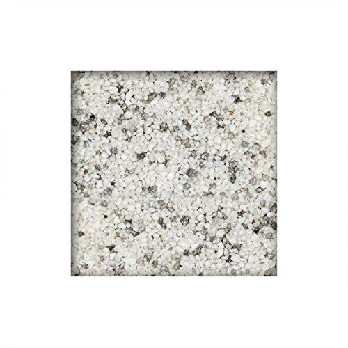 25 kg Steinteppich / Marmorkies inkl. Bindemittel 2-4 mm ausreichend für ca. 2,3 m² direkt vom KiesKönig® Lichtgrau