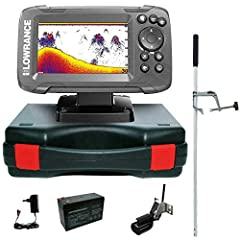 Lowrance Sounder Fish Finder Portable Master Edition Kompletny system Hook2 4X