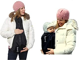 Extendher Maternity Coat Alternative. Jacket Extender Lined With Polartec Fleece. Nylon Outer Shell | Clip On Babywearing Adapter Panel, Converts Any Zip Up Coat, Doubles As Baby Cover, 1 Size