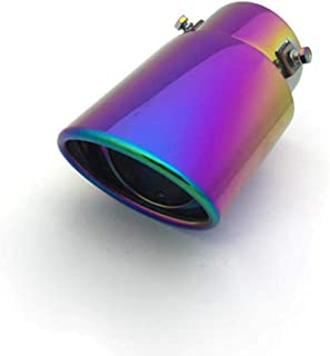 Candybarbar Sirena de Silbato de turbina modificada para Coche Motocicleta Cola Silbato de Escape Tubo de Motocicleta Squeaker Accesorios para Coche