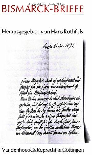 Bismarck- Briefe (Gottingische Gelehrte Anzeigen)