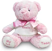Personalized Baby's First Teddy Bear (Pink)