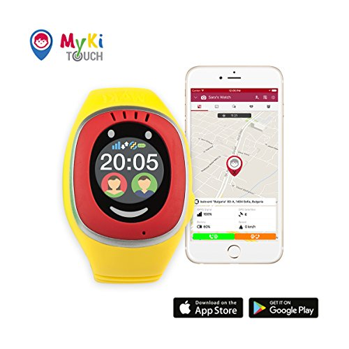 MyKi GPS Uhr Kinder, Smartwatch mit GPS Tracker, Handy Ortung, SOS und App Tracking in Deutsch (Rot)