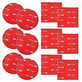 12 almohadillas adhesivas de espuma de doble cara de 3M, DanziX redondas y cuadradas VHB adhesivas de repuesto para cinta de montaje