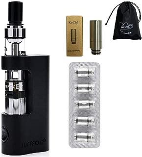 【販促】JustFog Q14電子タバコ 510 ドリップチップ 1.6Ωコイル付け プルームテック カプセル対応 スターターキット 電子タバコセット コスト节约 黒い 初心者タバコ (ブラック)
