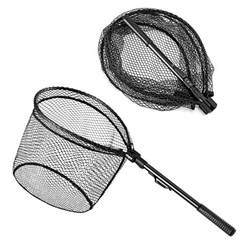 commercial Magreel fishing nets, portable fishing nets for trout fishing. telescopic folding trout net