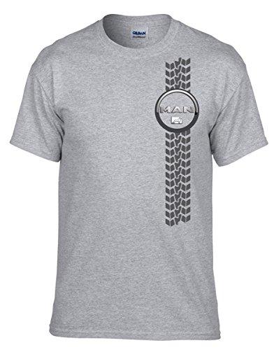 Man LKW Fun Auto T-Shirt Grau T-Shirt - 100 -Grau (M)