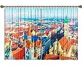 CAFO Cortina de Aislamiento térmico de la Ciudad de Múnich Disfraz de Vacaciones 2 Paneles (W) 340x (H) 200cm