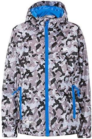 Trespass Qikpac Kids Printed Packaway Jacket Waterproof Boys Girls Raincoat