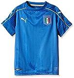 Puma - Camiseta de Fútbol de la Primera Equipación de Italia, Réplica para Niño, Azul ( Blue/White), 16 EU