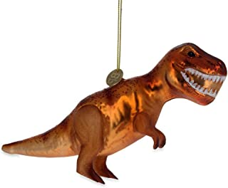 BestPysanky T Rex Dinosaur Glass Christmas Ornament 6.7 Inches