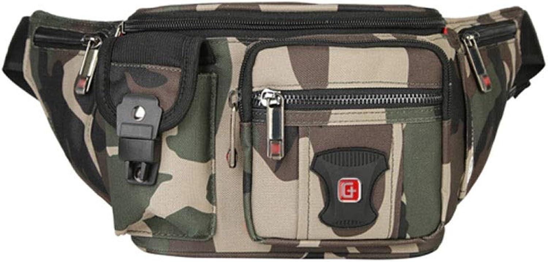 Hengtongtongxun Waist Bag, Camouflage Fashion Casual Fitness Pocket Men, Outdoor Sports Bag Mobile Phone Pocket, Chest Bag Male, Camouflage, Best Choice for Travelers