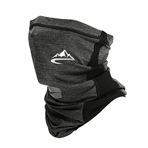 dowelnow Cooling Neck Gaiter Face Covering Multifunctional Headwear Bandana Scarf Adjustable Breathable Lightweight Sun protective Snoods for Men Women Outdoors