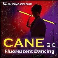 色変化杖3.0蛍光ダンス / Color Changing Cane 3.0 Fluorescent Dancing (Professional two color) -- ステージマジック / Stage Magic /マジックトリック/魔法; 奇術; 魔力