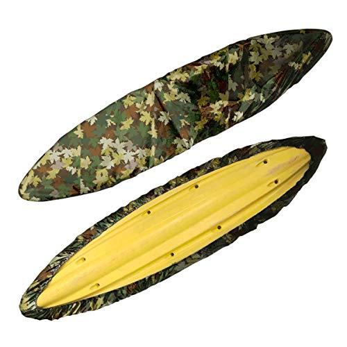 Chengsan 2,6 m – 6 m Kayak Canoe Almacenamiento Polvo Cover – Impermeable UV Sunblock Shield Protector para 7 tamaños gama de pesca Barco/Kayak/Canoe, camouflage, Fit 9.3-10.5ft Kayak