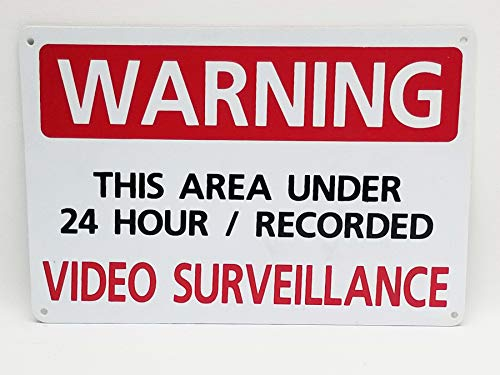 Highway Traffic Supply Security Sign - Warning - This Area Under Video Surveillance - #406