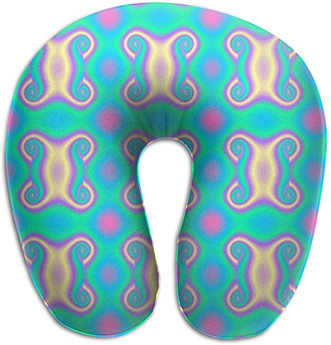 tyui7 Farbige Textur U-förmige Kissen Memory Foam Nackenkissen für Reisen und Linderung von Nackenschmerzen Komfortable, superweiche Zervixkissen