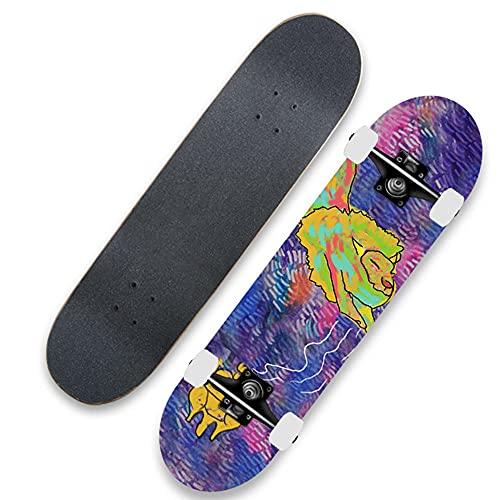 Tabla de Skate Cruiser portátil, una patineta Profesional de Habilidad de Arce estándar para Principiantes Adecuada para niños y niñas-Tipo B_31 Pulgadas