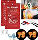 Fire Blanket For Home XXL- 79 x 79 Fire Blankets Emergency For People Fire Retardant Blanket Fire Shelter Large Suppression Fiberglass Kitchen Home Restaurant House Fire Proof Survival Safety Reusable