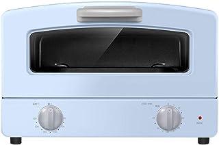 Compacto Horno, Doble vidrio de cuarzo tubo de la calefacción, Cajón Tipo de la parrilla Net y 1000w Potencia de Cocción, for mesas de trabajo Horno, azul y rosa (Color: Azul) (Color : Blue)