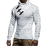 Suéter de Cuello Alto con Personalidad de Moda para Hombre, suéter Informal Delgado, cálido, cómodo, de Estilo Europeo XXL