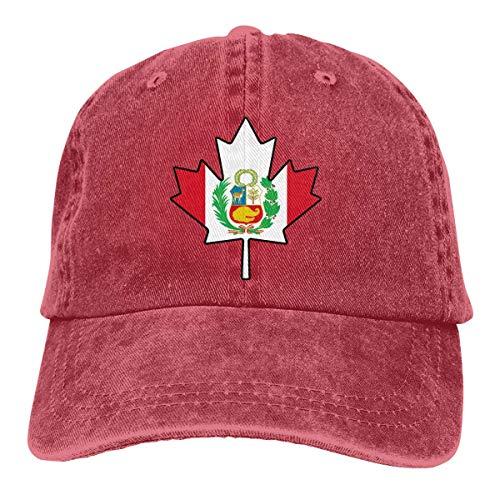Gorras Beisbol Bandera De Perú Canadá Maple Leaf-1 Cowboy Durable Impresión para Hombre Gorra De Camionero Deportes Al Aire Libre Protección Solar Sombreros De Béisbol