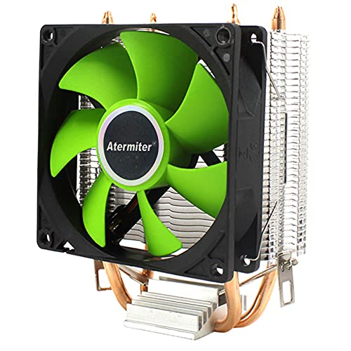 CPU Cooler 6 Tuberías de Calor Dual-Torre Enfriamiento 9cm RGB Fan Ventilador LED Soporte de Ventilador 3 Ventiladores 3Pin CPU Fan para AMD y para Intel (Blade Color : 1 Fan 3pin)