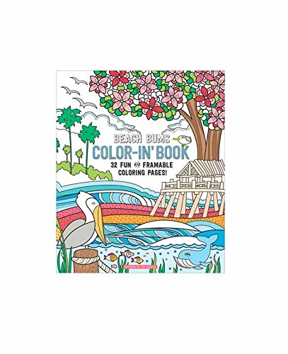 "OOLY, Coloring Book, Beach Bums, 32 Pages, 9"" x 12"" (118-158)"