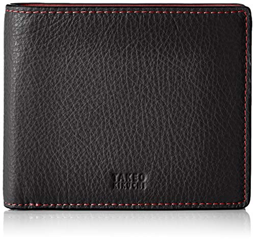 [タケオキクチ] 二つ折り財布 TK2010119 ブラック/レッド