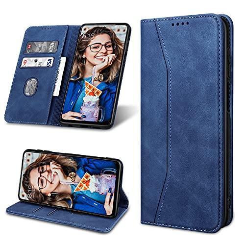 Yokata Funda para Xiaomi Redmi Note 9 Pro/9S Cuero PU + Silicona TPU Tapa Monedero Plegado Flip Magnético Carcasa Ranura Tarjeta Soporte Plegable Libro Case para Xiaomi Redmi Note 9 Pro/9S - A
