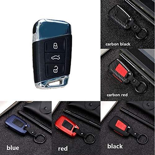 N\A Auto Schlüssel Hülle for Autozubehör Polo Golf Autozubehör Superb A7 Passat Käfer Qualitäts Mature Carbon-Faser-Matte Car Key Case Interieur-Accessoires Schlüssel Gehäuse