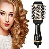 Damenie 5 in 1 Haartrockner, Upgrade Salon Warmluftbürste Hair Dryer & Volumizer Styler